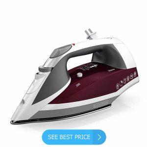 BLACK+DECKER Vitessa Advanced Steam Iron with Retractable Cord, Stainless Steel Soleplate, Granberry, ICR2030 Review