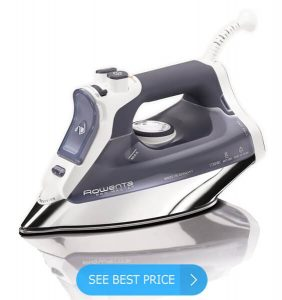 Rowenta DW8080 Professional Micro Steam Iron Stainless Steel Soleplate with Auto-Off, 1700-Watt, 400-Hole, Blue review