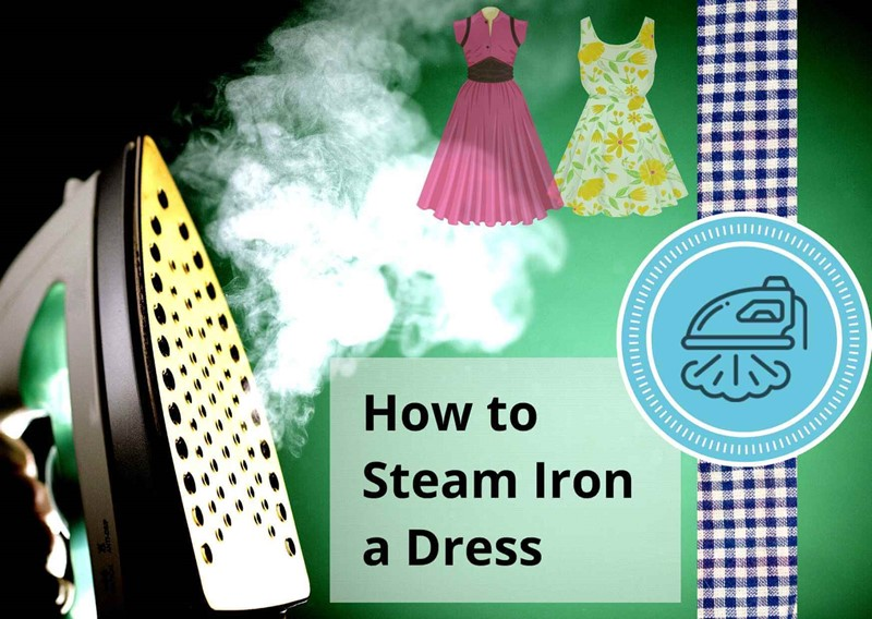 method to steam iron any dress