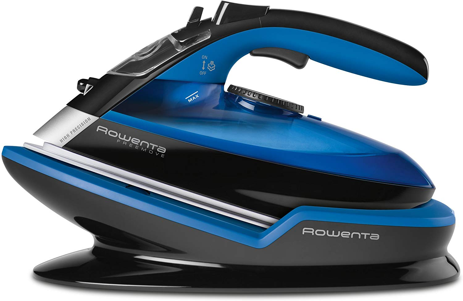 Rowenta Freemove Cordless Auto Off 400-Holes Stainless Steel Soleplate Steam Iron, Blue, 1 - 1830007108